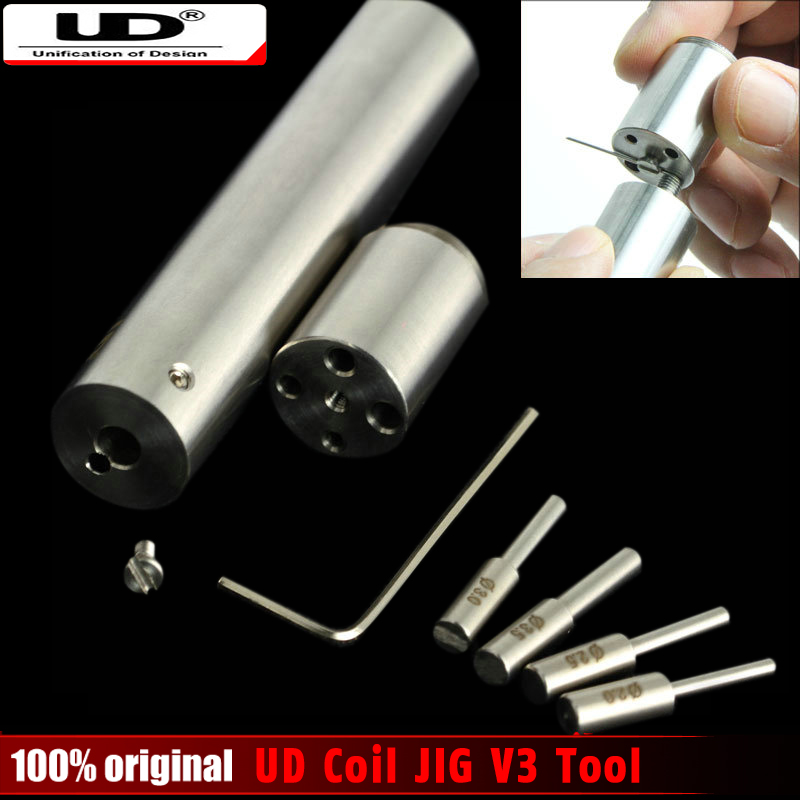 100 Original Youde UD Coil JIG V3 Wire Coiling Tool Pre made Welded Wires Vaping Coil
