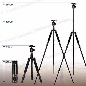 Image 4 - Beike QZSD Q999S Kit de trípode portátil para fotografía profesional, cabezal de bola de monopié para cámara DSLR de viaje, aleación de aluminio