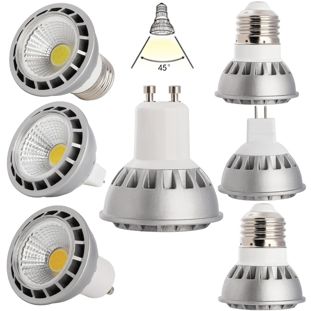 Ultra Bright Dimmable LED Spot Lights E27 GU10 MR16 DC 12V 15W COB Bulb CREE Cold / Neutral/ Warm White Lamp 220V