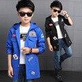 Moda Jaquetas Casacos para Meninos Primavera Outono Crianças Outerwear Crianças Queda Blusão Esportes Roupas Infantis Meninos Roupas Ativo