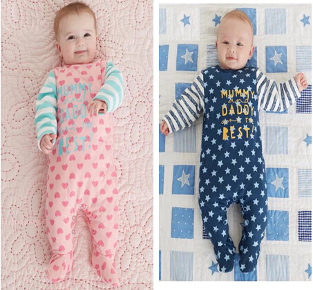 2017-new-style-Baby-Rompers-boy-girl-Cotton-Long-Sleeve-Newborn-clothes-Letter-I-Love-mummy-Daddy-jumpsuit-Baby-clothes-1