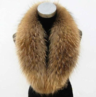 Factory Direct Large Genuine Raccoon Fur Collar High Quality Muffler Fur Scarf Real Fur Collar For Women DL6245
