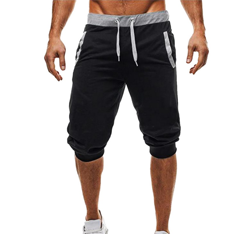 New Men's   Shorts   High Quality Slim Fit Bodybuilding Mens Fashion No Logo   Short   Pants New Fitness Joggers Sweatpants
