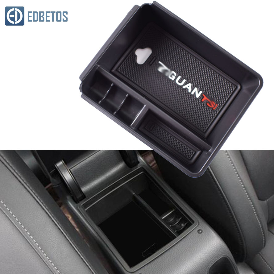 New Armrest Glove Storage Box For Volkswagen V W <font><b>Tiguan</b></font> 2009 2010 2011 2012 <font><b>2013</b></font> 2014 2015 <font><b>Tiguan</b></font> Accessories Console Organizer image