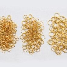 200pcs/lot 3/4/5/6mm Metal DIY Loops Jump Rings Split Ring Jewelry Findings Open Circle Single  for Jewelry Making 1000pcs 3 12mm metal jewelry findings open single loops jump rings
