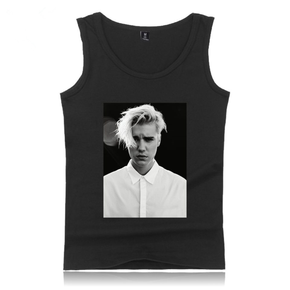 Justin Bieber tank top 2017 NEW Women Fitness Tank Tops Bodybuilding Cool Kpop Shirt XXXXL Clothes Summer Vests For PLUS SIZE