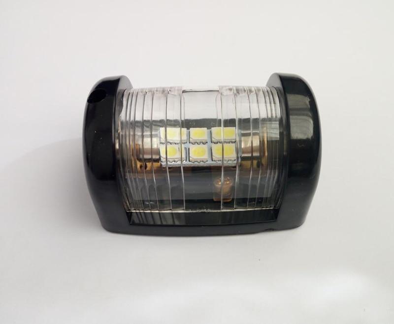 12 V морской яхты светодиодный мини Навигационный свет белый кормовой фонарь сигнальная лампа для плавания-in Морское оборудование from Автомобили и мотоциклы