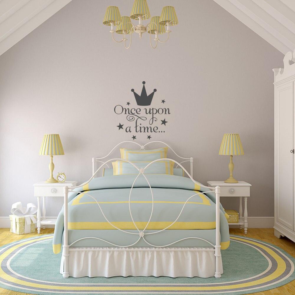 corona de la princesa pegatinas de pared para nias cabecero dormitorio estilo etiqueta de la pared
