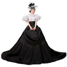 YF стиль ренессанс викторианский платье бальное платье костюм вампира на Хеллоуин Белль костюм история королевский костюм