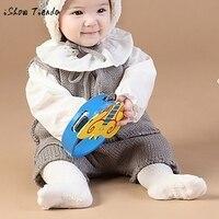 Шерстяной вязаный жилет без рукавов с поясом для новорожденных, комбинезон, штаны, комбинезон с пуговицами, повседневный зимний выходной ко