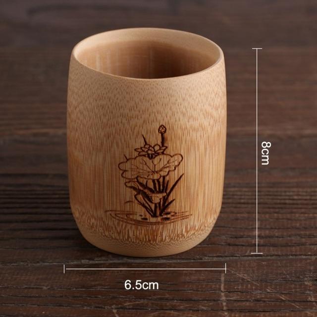 Natural Bamboo Drinking Cup Tea Beer Vintage Coffee Juice Milk Cup