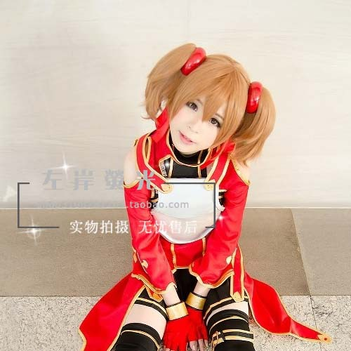 Silica Sword Art Online Brown Clip Cosplay Wig Two Ponytails - HangZhou BOBO Co., Ltd store