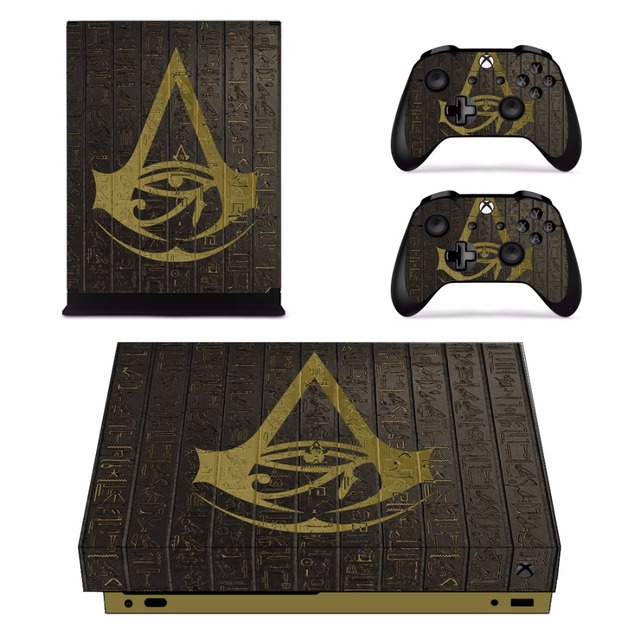 Assassins Creed Full Set Faceplates Skin Stickers For Xbox One X Console And Two Controller
