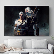The Witcher 3 Wild Hunt Geralt And Ciri Canvas Painting Print Living Room Home Decor Modern Wall Art Oil Painting Poster Picture все цены
