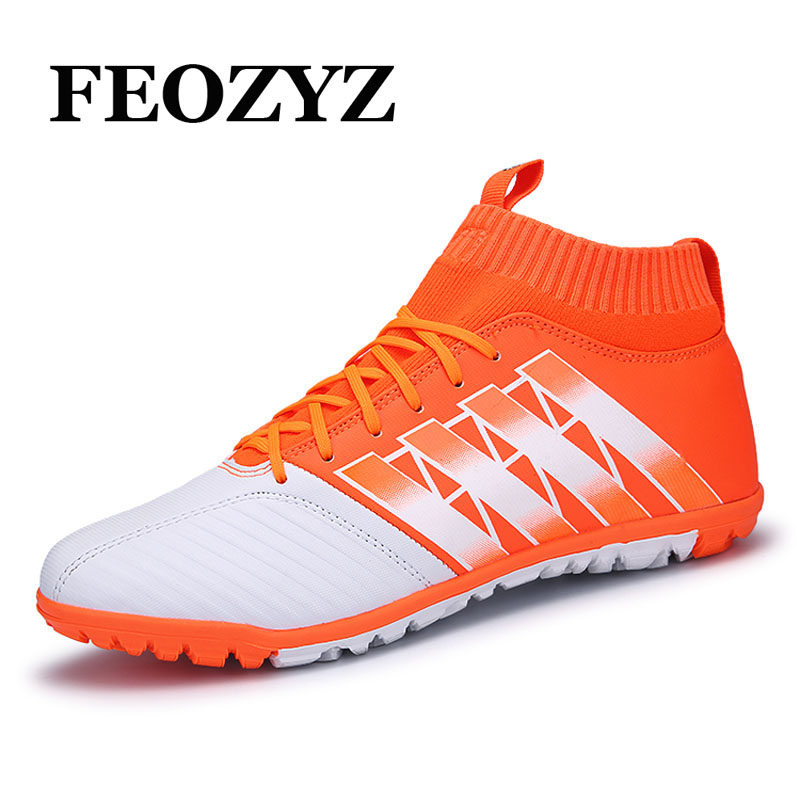 df2fb8aabab9a New Style Turf Soccer Shoes Men High Ankle Football Boots Botas De Futbol  Con Tobillera Hard
