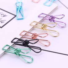 5PCS Hollow Out Metal Binder Clips for Office School Paper Clip Organizer Stationery Supply Decorative Fish Clip