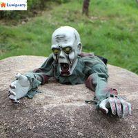 Lumipartyハロウィンホラー幽霊装飾誘導怖いサウンド照明目クロールゴーストトリッキーいたずらおもちゃ飾り小道具40