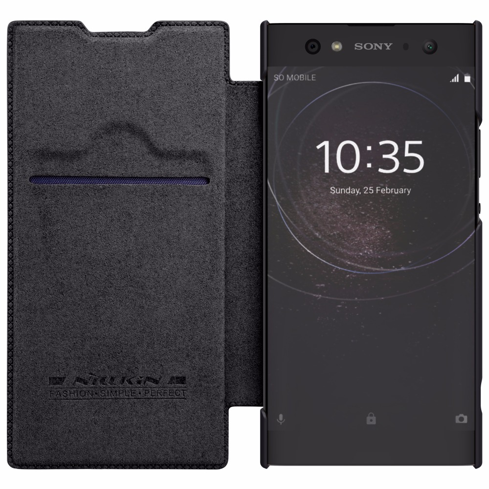 Nillkin QIN leather Case for Sony Xperia XA 2 /XA2 Ultra Card Pocket wallet bag flip cover For Sony Xperia XA2 Ultra