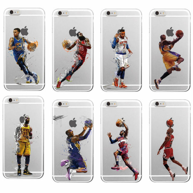 NBA Stars Kobe Bryant soft TPU Phone Case Fundas For iPhone 7plus 7 6 6S 5 5S SE 5C 4 4S SAMSUNG Galaxy S5 S6 S7 Edge