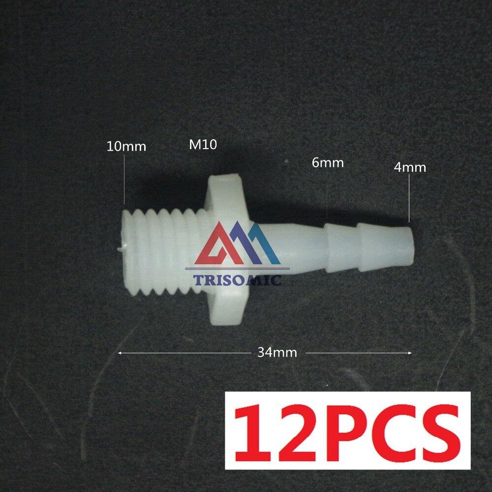 Analytisch 12 Pieces4mm-m10 Gerade Verbindungskunststoffrohr Fitting Barbed Stecker Gewinde Material Pe Joiner Fitting Aquarium Sanitär