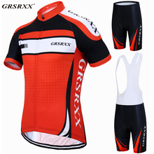 GRSRXX Pro Cycling Clothing MTB Bicycle Clothes Maillot Ropa Ciclista Bike Sportswear Mens Ciclismo Jerseys Set