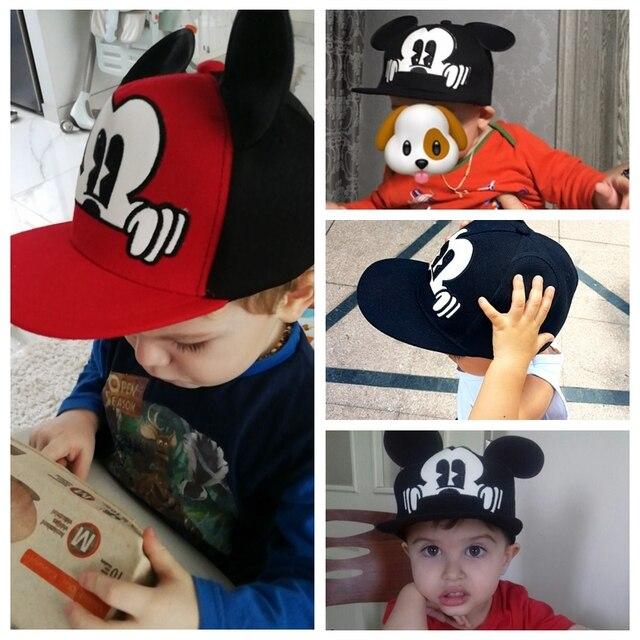 Crianças snapback Tampas de orelhas de Mickey do bebê chapéus de sol Boné de beisebol verão criança crianças bebê menino meninas chapéus tampas gorro de inverno enfant