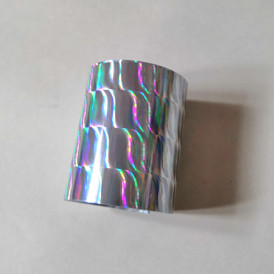 Hot stamping foil  holographic foil silver wave pattern B11 hot press on paper or plastic heat transfer filmHot stamping foil  holographic foil silver wave pattern B11 hot press on paper or plastic heat transfer film