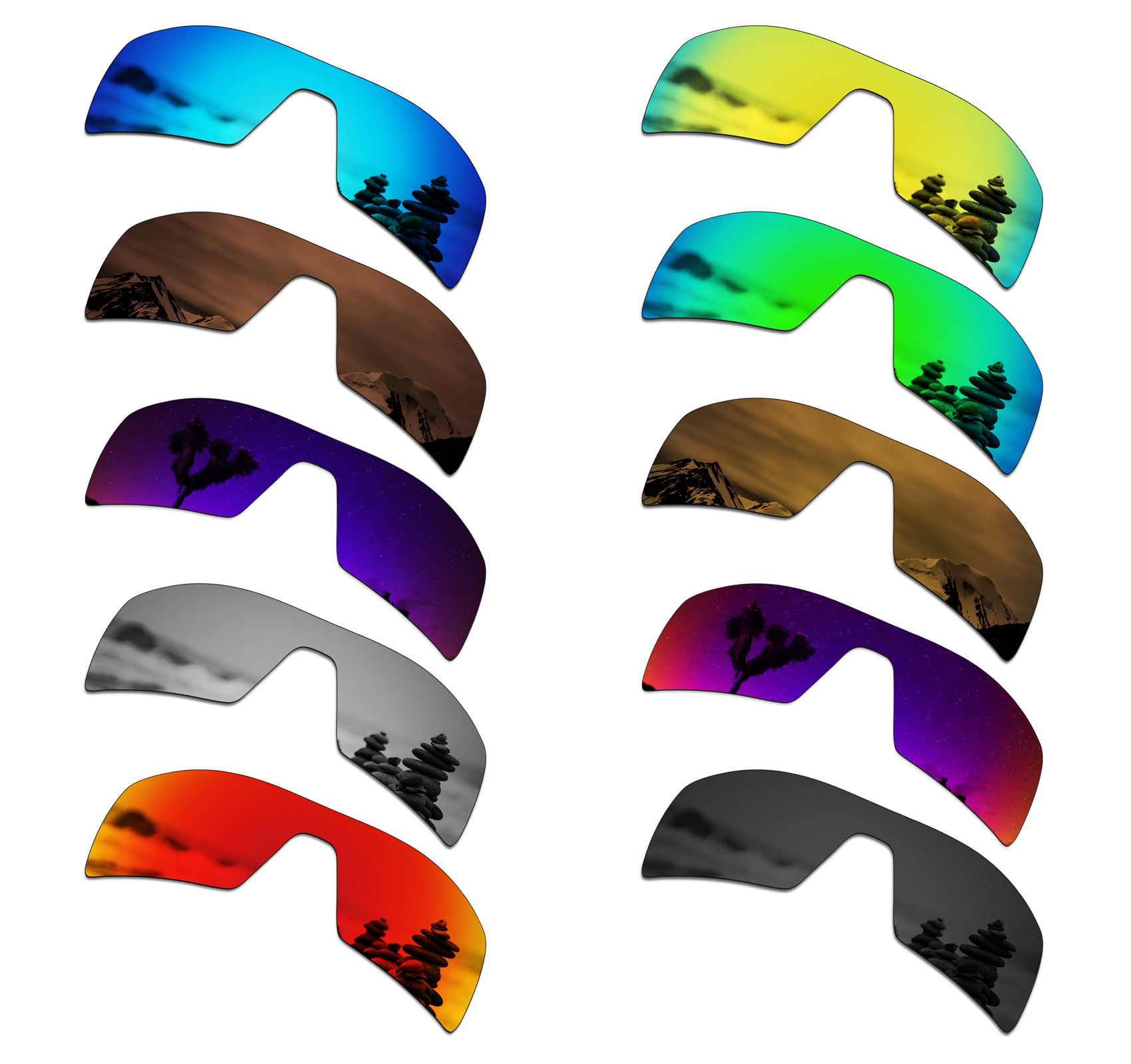 SmartVLT Polarized Replacement Lenses For Oakley Oil Rig Sunglasses - Multiple Options