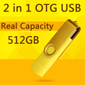 Usb 2.0 100% 32 GB Teléfono Inteligente Tablet PC Flash Drives otg almacenamiento externo micro usb memory stick pen drive 64 gb 128 gb 1 TB