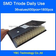 Codziennego użytku tranzystor SMD próbki książki 36valuesx50pc = 1800 sztuk trioda zestaw S9012 SS8050 BAV70 2N5551 SI2300 BAT54A TL431 itp tanie tanio ZZYADE Do montażu powierzchniowego S9012 SS8050 BAV70 2N5551 SI2300 BAT54A TL431 etc Triody tranzystor Nowy China