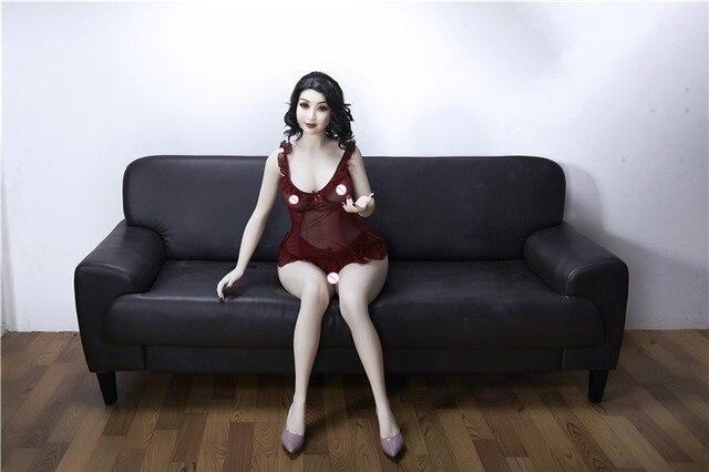 160 centimetri #7 di Carne di colore della pelle di Alta Qualità Bella donna sexy del sesso robot completo TPE con lo scheletro in metallo del sesso uomini bambola del giocattolo del sesso