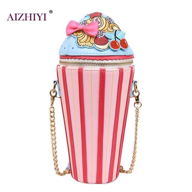 231bb7fd568ba Women Creative Shoulder Bags Cupcake Ice Cream Shape Handbag Fashion  Messenger Crossbody Bag for Teenage Girls Travel Bolsa