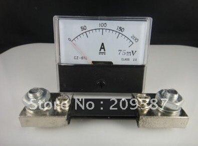 Аналоговая AMP Панель метр амперметр тока DC 0-200A+ шунт