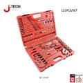 Jetech garantia vitalícia 121 pcs profissional auto repair tool set 1/2 1/4 3/8 chave de soquete conjunto de ferramentas caixa de ferramentas do carro combinação