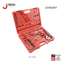Jetech lifetime guarantee 121pcs professional auto repair tool set 1/2 1/4 3/8 socket wrench tools box car tool set combination