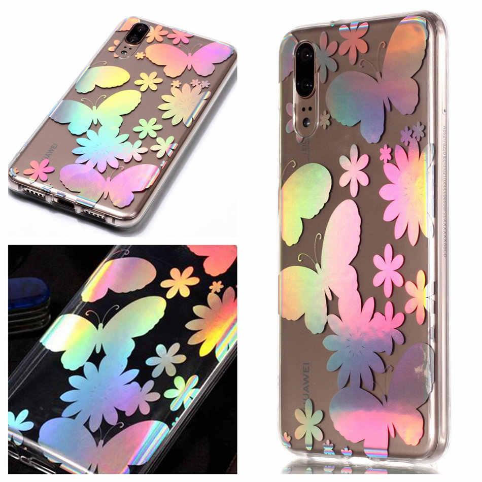 Тонкий чехол-накладка для телефона huawei mate 10 Pro Honor 9 P20 P8 P9 Lite Mini 2017 Y3 Y5 Y6 2019 Блестящий Мягкий силиконовый чехол P01F
