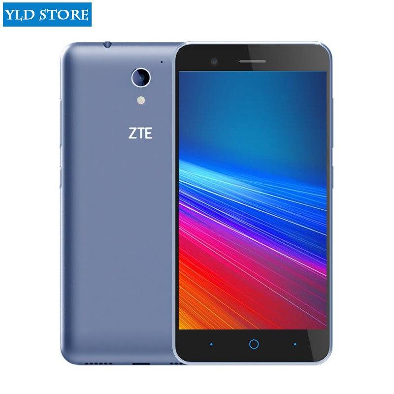 Original ZTE Lâmina A520 4g smartphone 5.0 de polegada 1280*720g RAM 32GROM 8 1 Quad telefone celular núcleo android 6.0 dual sim telefone
