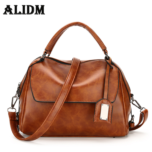 New Fashion Women Shoulder Bags Famous Brand Pu Leather Las Handbags 2017 Summer Solid Top
