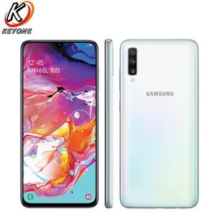 """Image 3 - Tout nouveau téléphone portable Samsung Galaxy A70 A7050 6.7 """"8GB RAM 128GB ROM Snapdragon 675 Octa Core 20:9 écran goutte deau téléphone NFC"""