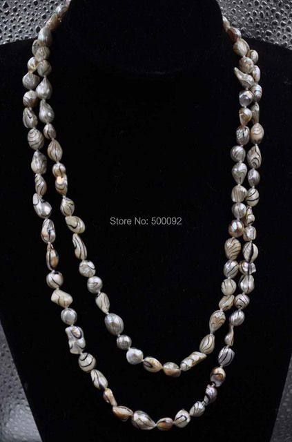 Baroque 120cm  9mm Baroque pearl necklace free shipping