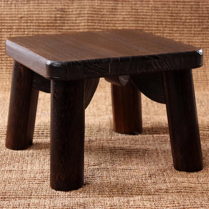 Square Japanese Antique Wooden Stool Pau