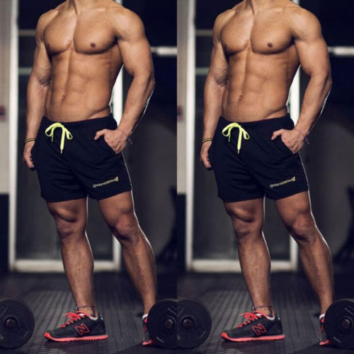 Shorts Men Short Pants Men Sik Silk Mens Shorts Summer Homme Bodybuilding Running Gym Sports Fitness Man Shorts Summer 2019