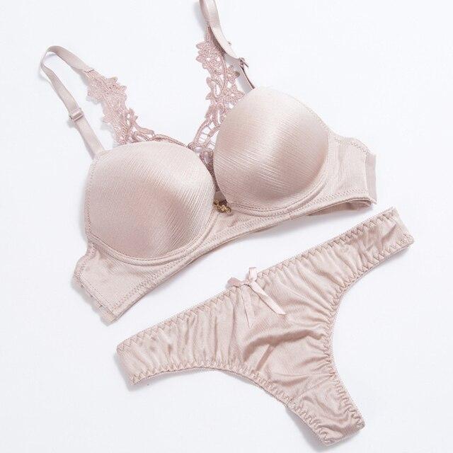 dad86fecc9a Wriufred Plus Size Bra Sets Underwire Y-line Straps Underwear Bra Set Sexy  Lace Women Push Up Bra Lingerie BC Cup Intimates
