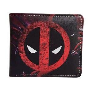 Новый кожаный кошелек с героями мультфильмов, кошелек с отделением для монет, с героями аниме, дэдпулом, капитаном, Америкой, Суперменом, вспышкой, человеком-пауком, Бэтменом, Халком