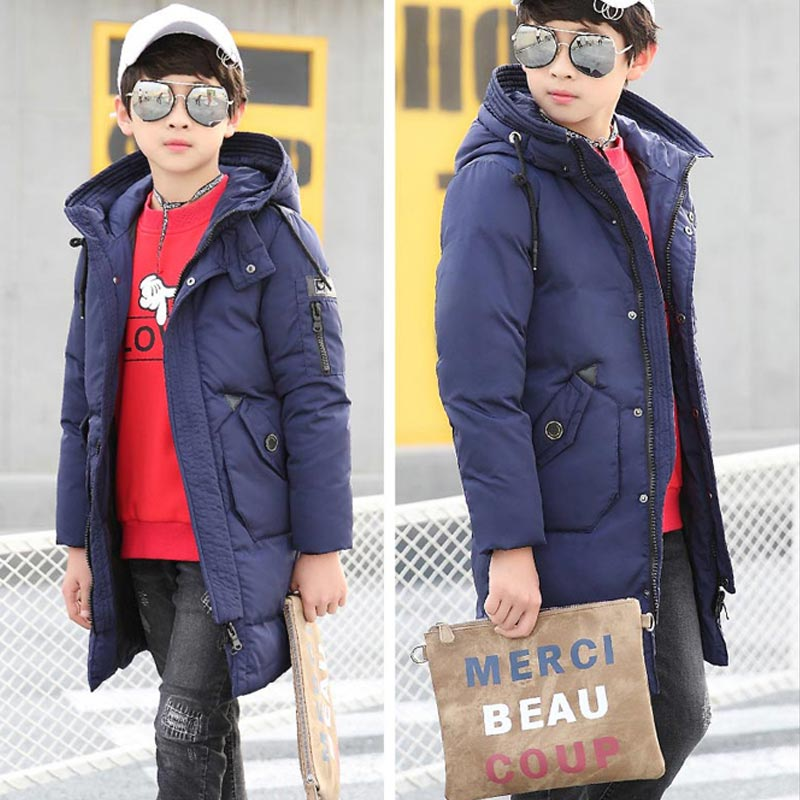 Mioigee 2017 Big Boys Super Warm Jacket Parka Outerwear Children Winter Jackets Down Coats Teenager Boy Thick Cotton Down boys down jacket boy winter coats jackets boy 100% white duck down jacket russia winter boys down jacket 30