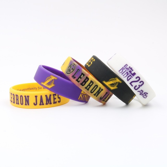 High Quality LA Lebron James Silicone Bracelet I PROMISE Lakers More Than An Athlete Basketball Player Kids Siliocne Wristband 5