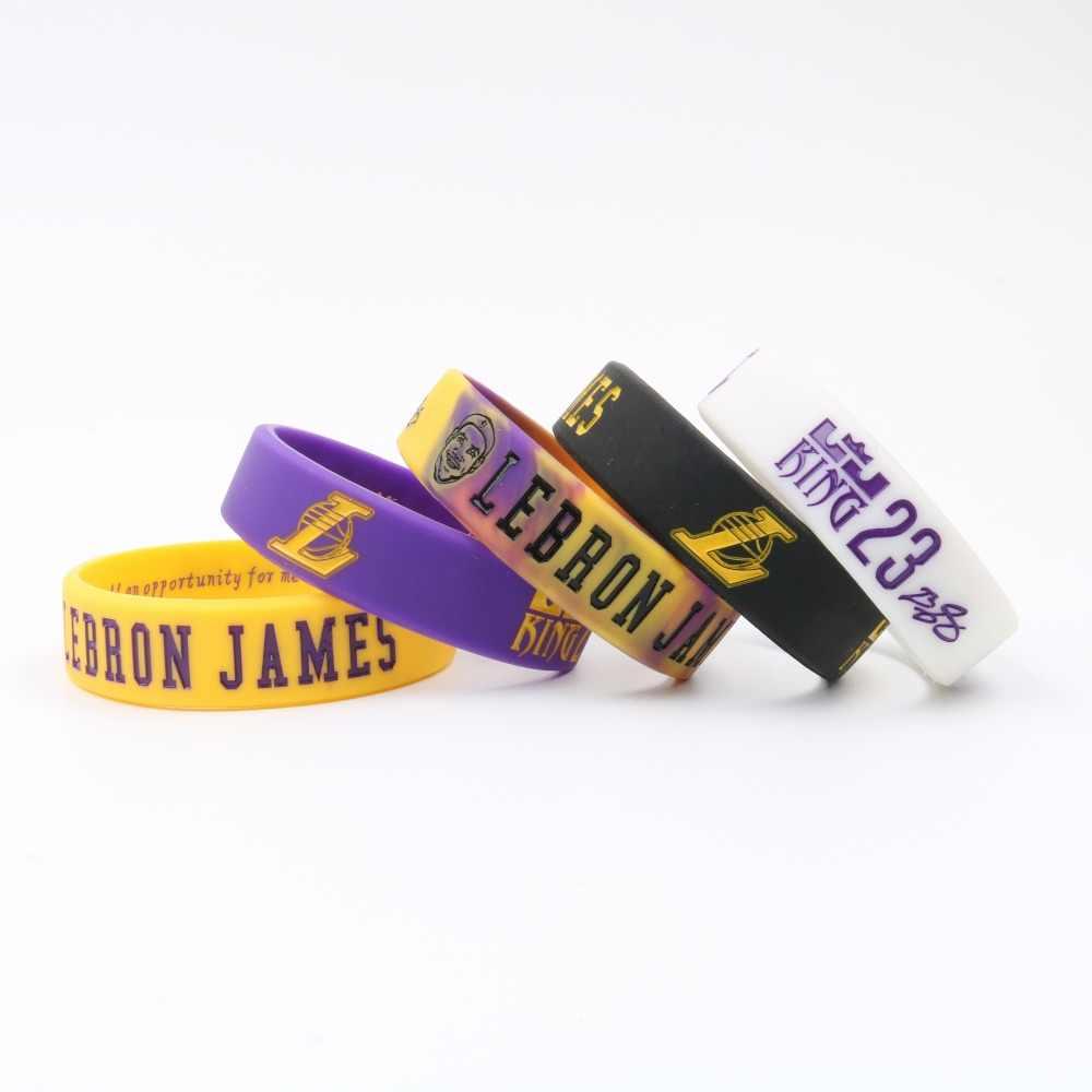 คุณภาพสูงพจนานุกรม Lebron James สร้อยข้อมือซิลิโคนผมสัญญา Lakers มากกว่านักกีฬาบาสเกตบอลเด็ก Siliocne สายรัดข้อมือ