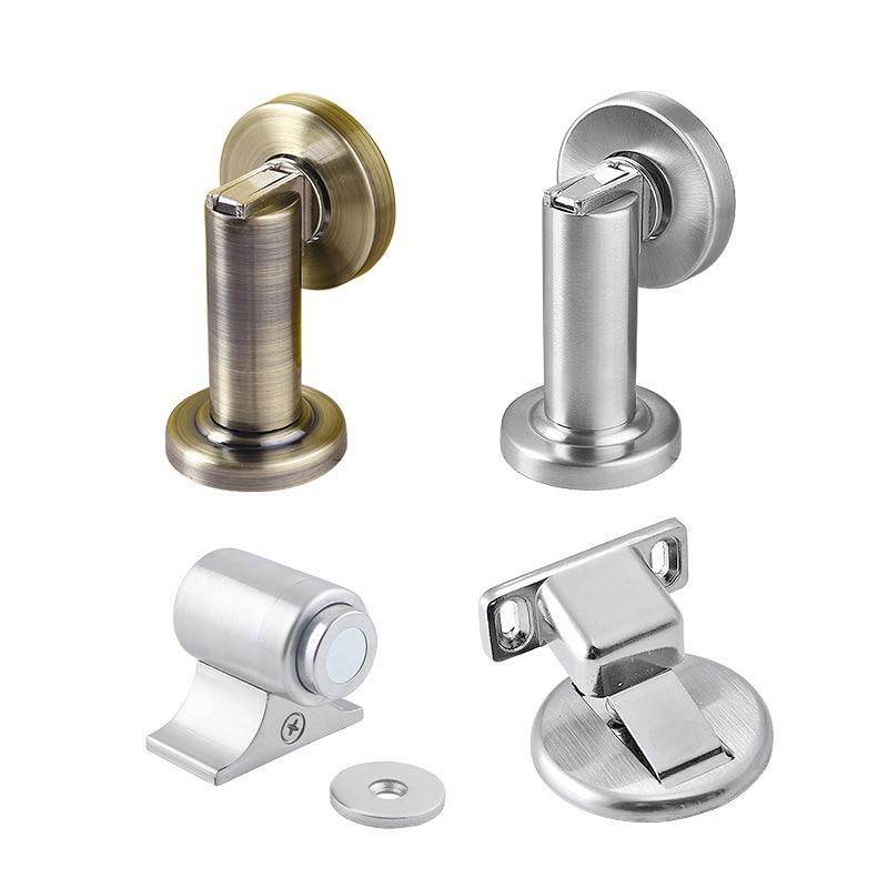 Stainless Steel Magnetic Door Stops Hidden Powerful Anti Collision