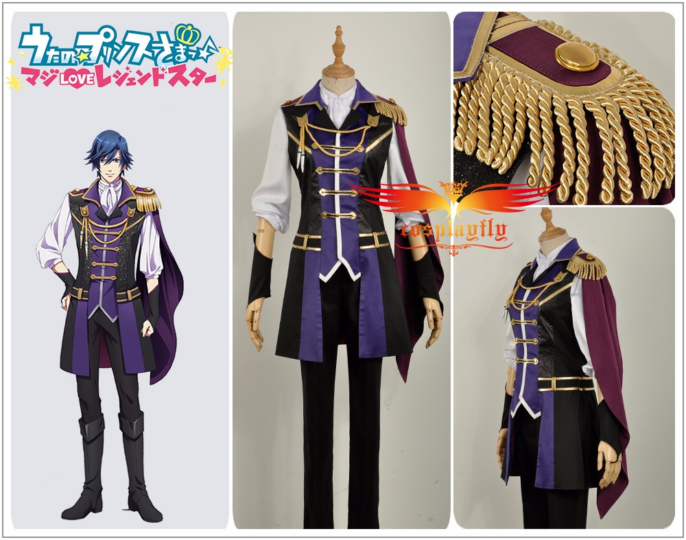 Anime Uta No Prince Sama Season 4 Ichinose Tokiya Stage Cosplay Costume Adult Men Purple Uniform Pants Outfit Clothing Halloween image