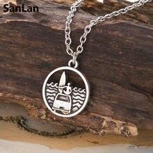 """SanLan 1 шт серфинга море кулон ожерелье океан ожерелье с подвеской """"волны"""" Пляжный подарочный для серферов"""